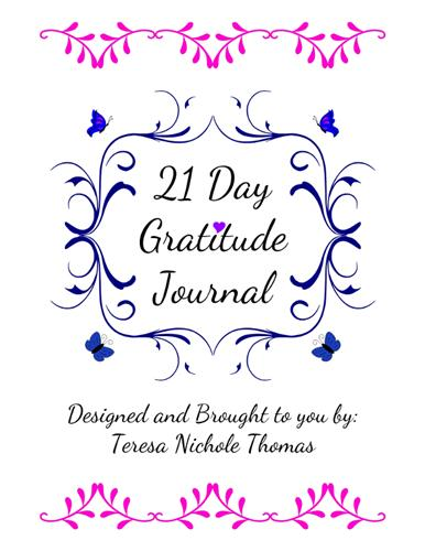 21 Day Gratitude Journal Pic 01