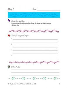 21 Day Gratitude Journal Pic 03