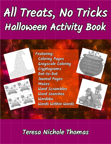 All Treats, No Tricks Halloween Activity Book Cover