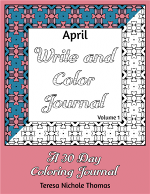 April Write and Color Journal Volume 1 Cover