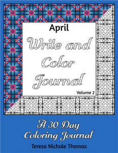 April Write and Color Journal Volume 2 Cover