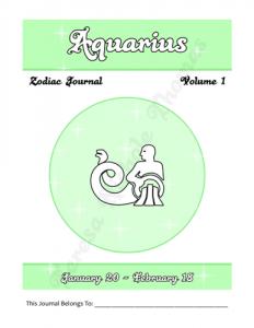 Aquarius Zodiac Journal Volume 1 Pic 02