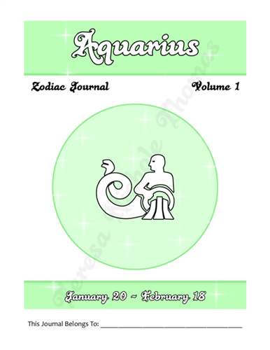 Aquarius Zodiac Journal Volume 1 Pic 02
