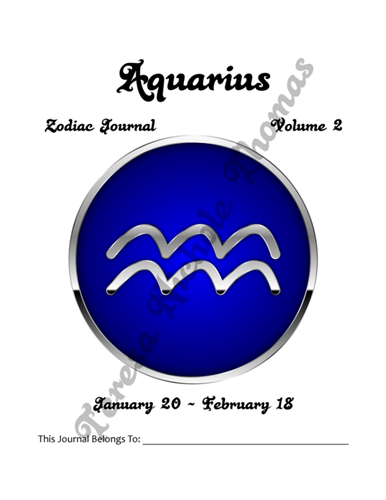 Aquarius Zodiac Journal Volume 2 Pic 02