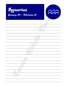 Aquarius Zodiac Journal Volume 2 Pic 03