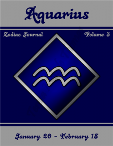 Aquarius Zodiac Journal Volume 3 Pic 01