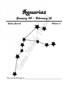 Aquarius Zodiac Journal Volume 4 Pic 02