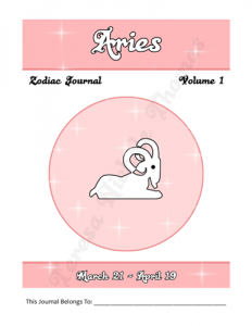 Aries Zodiac Journal Volume 1 Pic 02