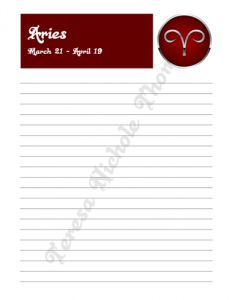 Aries Zodiac Journal Volume 2 Pic 03