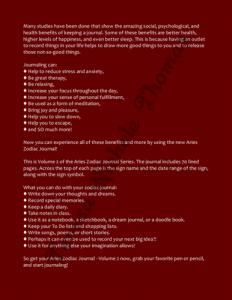 Aries Zodiac Journal Volume 2 Pic 04