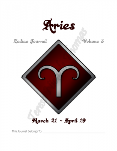 Aries Zodiac Journal Volume 3 Pic 02