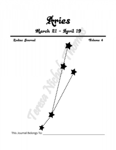 Aries Zodiac Journal Volume 4 Pic 02