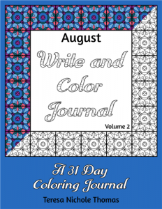 August Write and Color Journal Volume 2 Cover