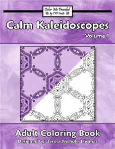 Calm Kaleidoscopes Adult Coloring Book Volume 01 Cover