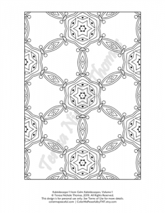 Calm Kaleidoscopes Adult Coloring Book Volume 01 Pic 01