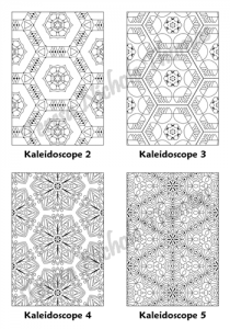 Calm Kaleidoscopes Adult Coloring Book Volume 01 Pic 02