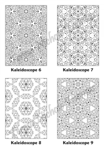 Calm Kaleidoscopes Adult Coloring Book Volume 01 Pic 03