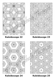 Calm Kaleidoscopes Adult Coloring Book Volume 01 Pic 07