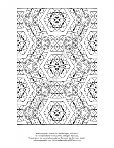 Calm Kaleidoscopes Adult Coloring Book Volume 02 Pic 01