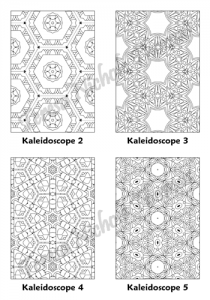 Calm Kaleidoscopes Adult Coloring Book Volume 02 Pic 02