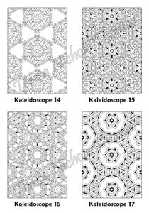 Calm Kaleidoscopes Adult Coloring Book Volume 02 Pic 05