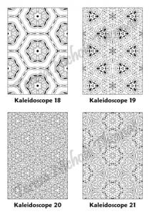 Calm Kaleidoscopes Adult Coloring Book Volume 02 Pic 06