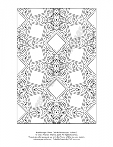 Calm Kaleidoscopes Adult Coloring Book Volume 03 Pic 01