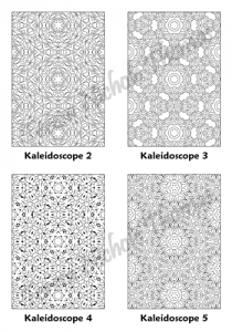 Calm Kaleidoscopes Adult Coloring Book Volume 03 Pic 02