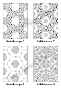 Calm Kaleidoscopes Adult Coloring Book Volume 03 Pic 03