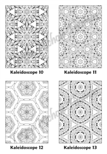 Calm Kaleidoscopes Adult Coloring Book Volume 03 Pic 04