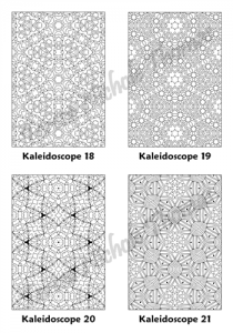 Calm Kaleidoscopes Adult Coloring Book Volume 03 Pic 06