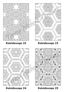 Calm Kaleidoscopes Adult Coloring Book Volume 03 Pic 07