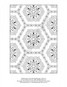 Calm Kaleidoscopes Adult Coloring Book Volume 04 Pic 01