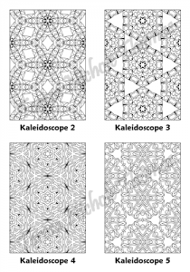 Calm Kaleidoscopes Adult Coloring Book Volume 04 Pic 02