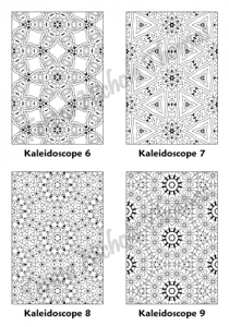 Calm Kaleidoscopes Adult Coloring Book Volume 04 Pic 03