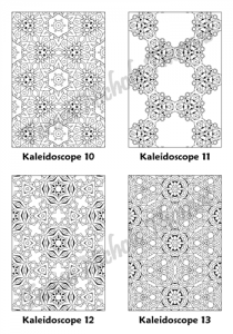 Calm Kaleidoscopes Adult Coloring Book Volume 04 Pic 04