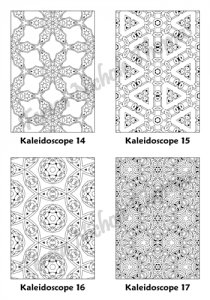 Calm Kaleidoscopes Adult Coloring Book Volume 04 Pic 05