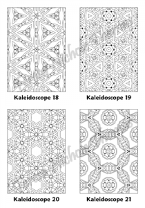 Calm Kaleidoscopes Adult Coloring Book Volume 04 Pic 06