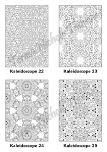 Calm Kaleidoscopes Adult Coloring Book Volume 04 Pic 07
