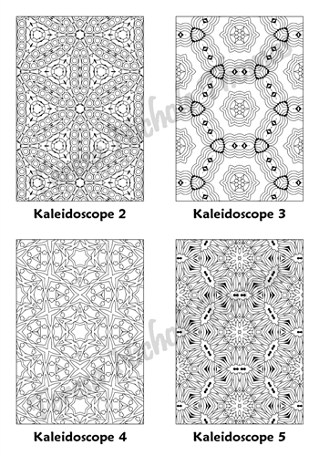Calm Kaleidoscopes Adult Coloring Book Volume 5 Pic 02