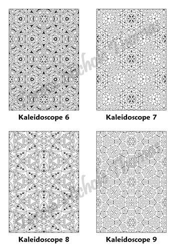 Calm Kaleidoscopes Adult Coloring Book Volume 5 Pic 03