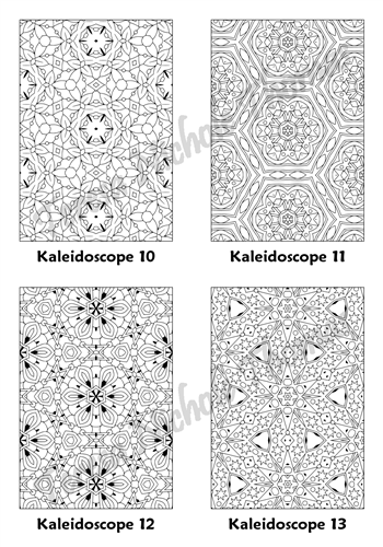 Calm Kaleidoscopes Adult Coloring Book Volume 5 Pic 04