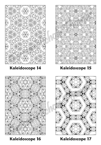 Calm Kaleidoscopes Adult Coloring Book Volume 5 Pic 05