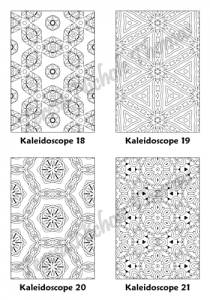 Calm Kaleidoscopes Adult Coloring Book Volume 5 Pic 06