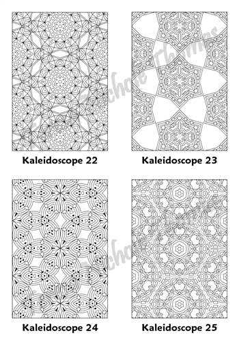 Calm Kaleidoscopes Adult Coloring Book Volume 5 Pic 07