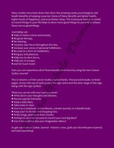 Cancer Zodiac Journal Volume 2 Pic 04