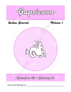 Capricorn Zodiac Journal Volume 1 Pic 02