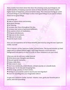 Capricorn Zodiac Journal Volume 1 Pic 05
