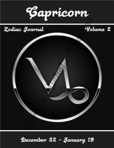 Capricorn Zodiac Journal Volume 2 Pic 01
