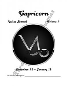 Capricorn Zodiac Journal Volume 2 Pic 02